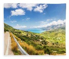 Splendid View To A Valley Fleece Blanket