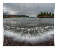 Split Rock Lighthouse State Park Fleece Blanket