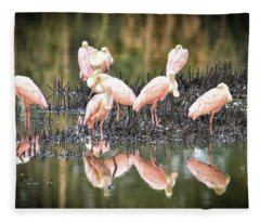 Spoonbill Reflection Fleece Blanket