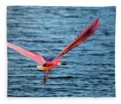 Spoonbill Wingspan Fleece Blanket
