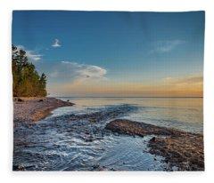 Spring At Hurricane River Fleece Blanket