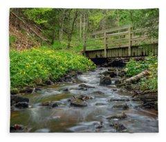 Spring At Munising Creek Fleece Blanket