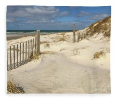 Spring At The Beach On Cape Cod Fleece Blanket
