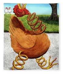 Spring Chicken Fleece Blanket