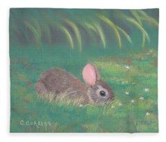 Spring Clover Fleece Blanket