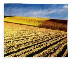 Spring Fields Fleece Blanket