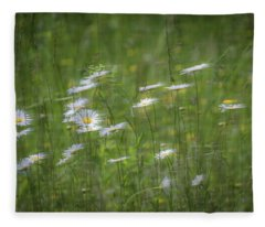 Fleece Blanket featuring the photograph Spring Flowers In The Wind by Allin Sorenson