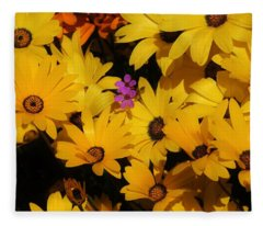 Spring In The Neighborhood Fleece Blanket