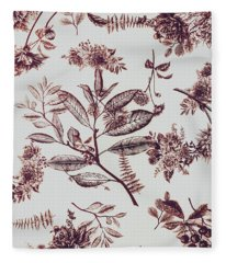 Spring Ink Fleece Blanket