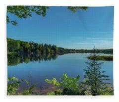 Spring Morning On Grand Sable Lake Fleece Blanket