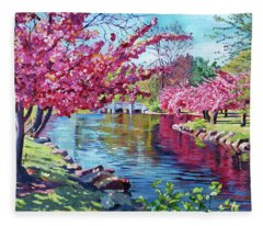 Spring Soliloquy Fleece Blanket