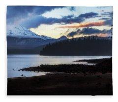 Spring Storm Elk Lake Fleece Blanket
