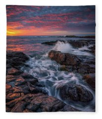 Spring Sunrise At Marginal Way Fleece Blanket