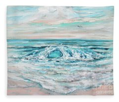 Spring Surf Fleece Blanket