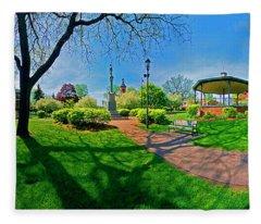 Spring Time In Wood Stock Square 360 Pan  Fleece Blanket