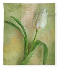 Spring Tulip Montage Fleece Blanket