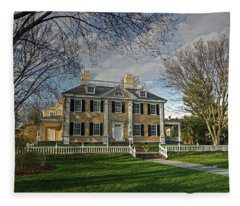 Springtime At Longfellow House Fleece Blanket