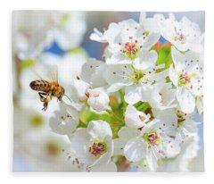 Springtime Buzz Fleece Blanket