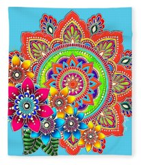 Springtime Mandala Fleece Blanket