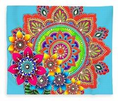 Springtime Mandala Fleece Blanket