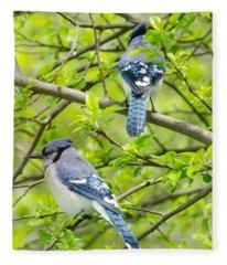 Springtime Pairs Fleece Blanket