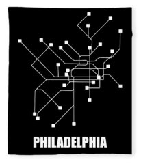 Square Philadelphia Subway Map Fleece Blanket