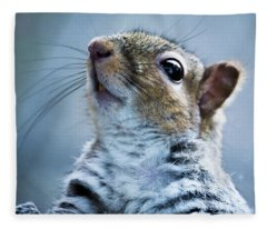 Squirrel With Nose In The Air Fleece Blanket