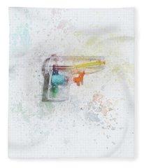 Squirt Gun Painted Fleece Blanket