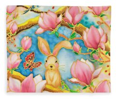 Spring Has Come Fleece Blanket