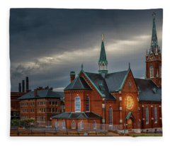 St Agatha Church Fleece Blanket