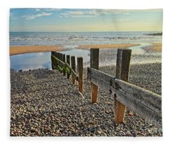 St. Bees Beach Cumbria Fleece Blanket