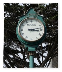 St Francis Yacht Club Clock Fleece Blanket