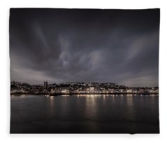 St Ives Cornwall - Dramatic Sky Fleece Blanket