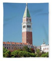 St Mark's Campanile Venice Fleece Blanket