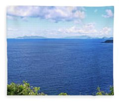 St. Thomas Northside Ocean View Fleece Blanket