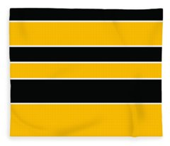 Stacked - Black And Yellow Fleece Blanket