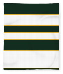 Stacked - Green, White And Yellow Fleece Blanket