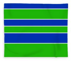 Stacked - Navy, White, And Lime Green Fleece Blanket