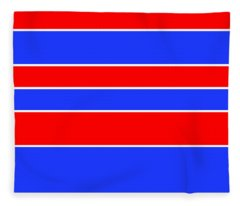 Stacked - Red, White And Blue Fleece Blanket