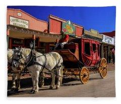 Stagecoach, Tombstone Fleece Blanket