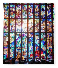 Stained Glass Historical Our Lady Of Czestechowa Shrine Fleece Blanket
