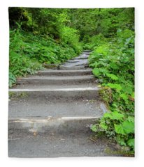 Stairs To The Woods Fleece Blanket