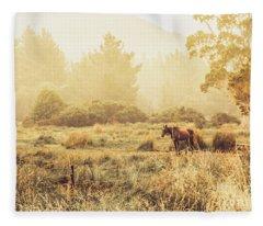 Stallion Homestead Fleece Blanket