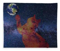 Star Cat Fleece Blanket