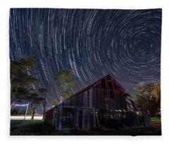Star Trails Over Bonetti Ranch Fleece Blanket