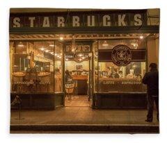 Starbucks At Pike Place Fleece Blanket