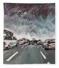 Starry Night Traffic Fleece Blanket