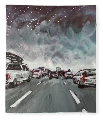 Starry Night Traffic Fleece Blanket