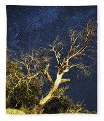 Stars Light Up Arizona Sky Fleece Blanket