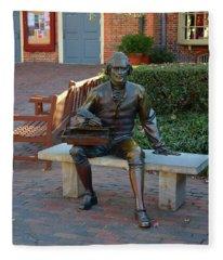 Statute Of Thomas Jefferson Fleece Blanket